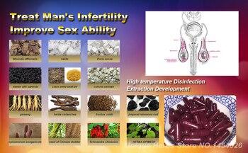 TCM Herbal Formula Formula to Cure Male Infertility, Increase Sperm Activity, Cure Sperm Death, 50 Pcs/lot