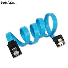Kebidu 50 قطعة/الوحدة بالجملة 50 سنتيمتر أجهزة sata 3.0 كابل القرص الصلب 7 pin مستقيم sata iii ii i البيانات الحبل ل ssd hdd