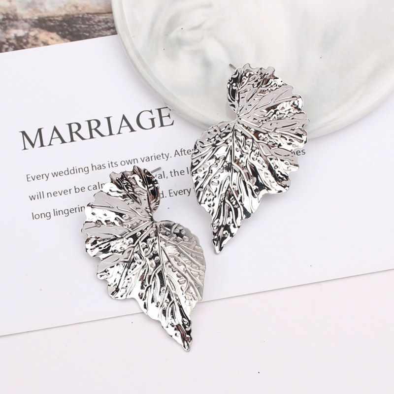 Mode Trendy Ohrringe Blume Tropfen Ohrringe für Frauen Vintage Kreative Persönlichkeit Einfache Frau Baumeln Ohrring Modeschmuck
