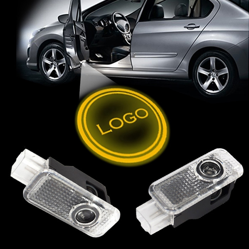 Car Lights 2pcs Led Auto Logo/emblem Laser Lamp Led Car Door Step Ghost Shadow Welcome Projector Light Lamp For Rs3 Rs4 Rs5 Rs6 Rs7 Ttrs