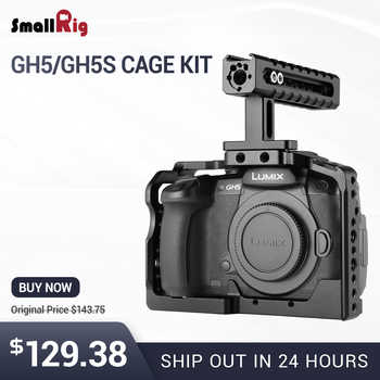 SmallRig Camera GH5 Dual Aluminum Cage kit For Panasonic Lumix GH5 / GH5S Form Fitting Cage with Top Handle Grip  2050 - DISCOUNT ITEM  10% OFF All Category