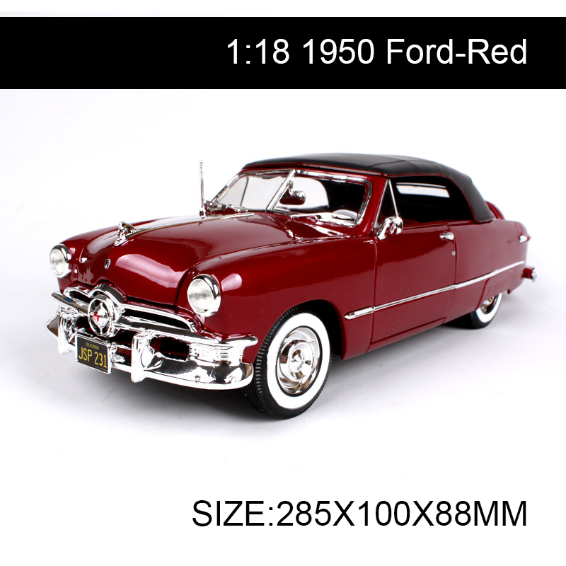 1:18 diecast Car 1950 Classic Cars 1:18 Alloy Car Metal Vehicle Collectible Models toys For Gift Collection 1 18 scale maisto classic children 1956 chrysler 300b antique vintage car metal diecast vehicle gift model kids toys collectible