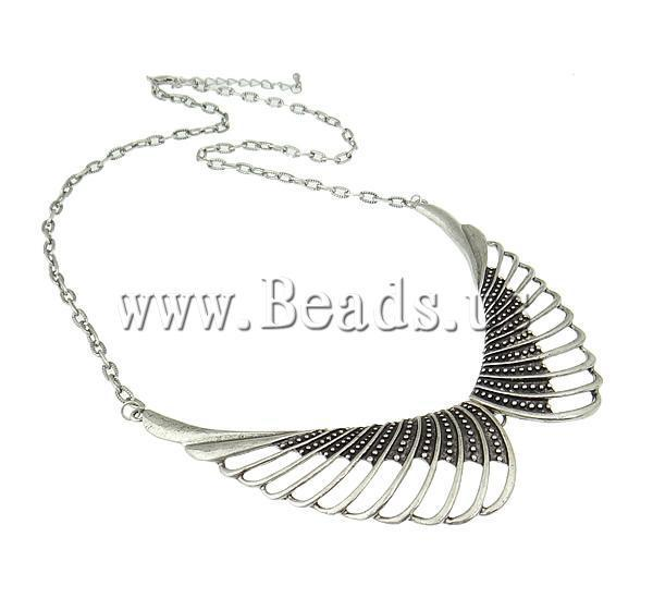 New Arrival ! Fashion Necklace Wing Shape antique Silver color plated Free Shipping
