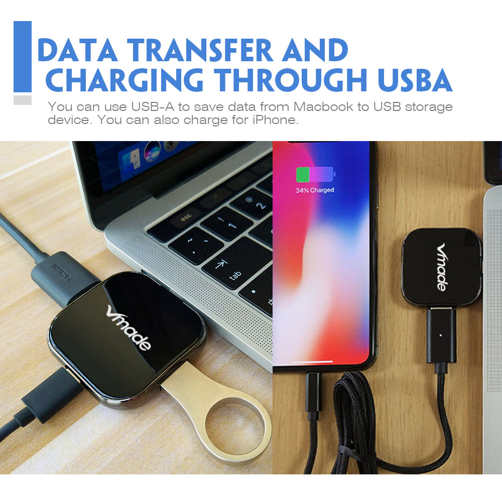 Image 4 - Vmade Mini Adapter Type C USB C HUB to HDMI 1080p for Apple New MacBook/Google ChromeBook Pixel Type C USB C 3.1 Mini Converter-in USB Hubs from Computer & Office