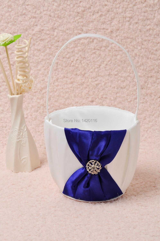 Blue Flower Girl Basket Dress Images