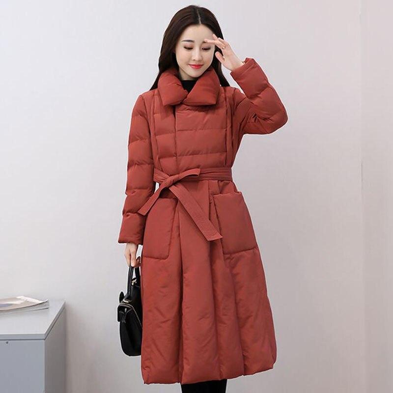 2018 Women   Down     Coats   Jacket New Fashion Female Thick Warm Long Parka White Duck   Down   Jackets Women's Winter   Coat   Outwear