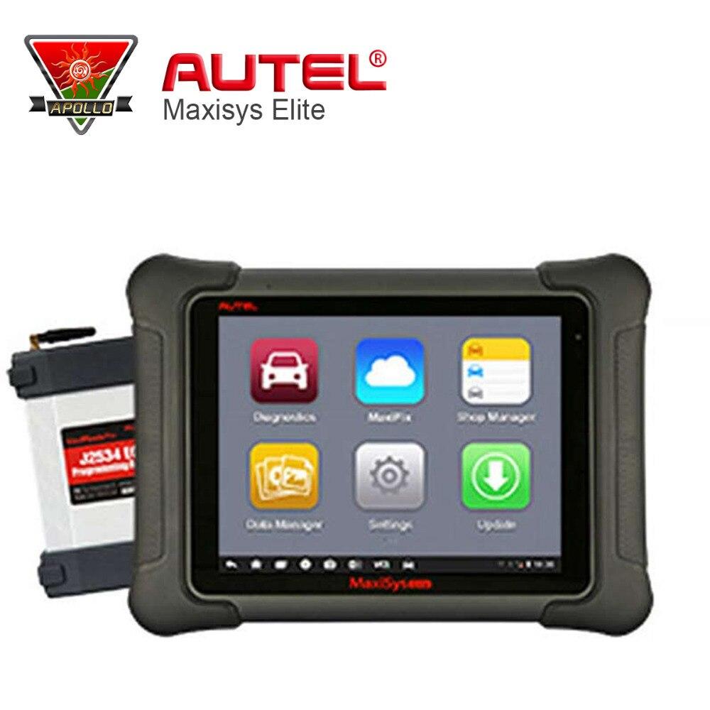 Prix pour Autel Original MaxiSys Elite Universal Auto Scanner De Diagnostic J2534 ÉCUS Programmation Mise À Jour En Ligne 1 ans mise à jour en ligne
