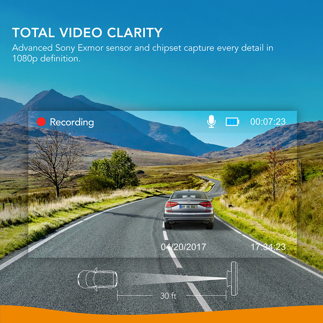 Anker Roav A1 Dash Cam Dashboard Camera Recorder 1080P FHD Nighthawk Wide-Angle WiFi G-Sensor WDR  Loop Recording Night Mode 1