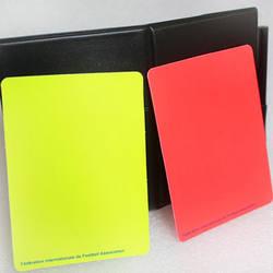 1 компл. Футбол рефери желтый красный карты буклет случае большой Портативный игры полезные Стандартный Bookings Футбол карты мяч 2018