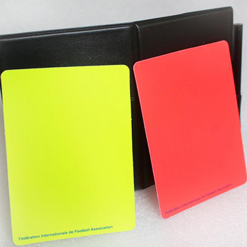 Soccer Referee Red Yellow Card Record Referee Tool With Leather Case And Pen Sport Match Soccer Sheet Set Note