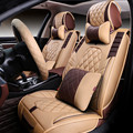 3d estilo tampa de assento do carro para jeep grand cherokee wrangler comandante bússola patriota, alta-fibra de Couro, Carro-Cobre
