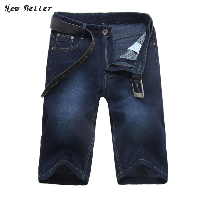 2017 men hot sales designer shorts fashion summer casual cotton straight denim shorts casual mens short jeans men  size 30-33 new summer thin fashion blue denim shorts jeans male straight knee length trousers men lightweight short jeans for teenager