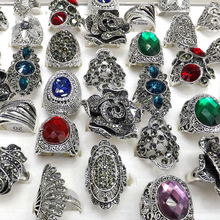 50pcs Baroque Style Vintage Rhinestone Rings Flower Design Feather Design Free Shipping