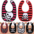 Cute Baby Bibs Skull Waterproof Boy Girl Bandana Bib Bebes Cotton Toddler Bids Baby Food Bib Newborn Stuff Accessories for 3-24M