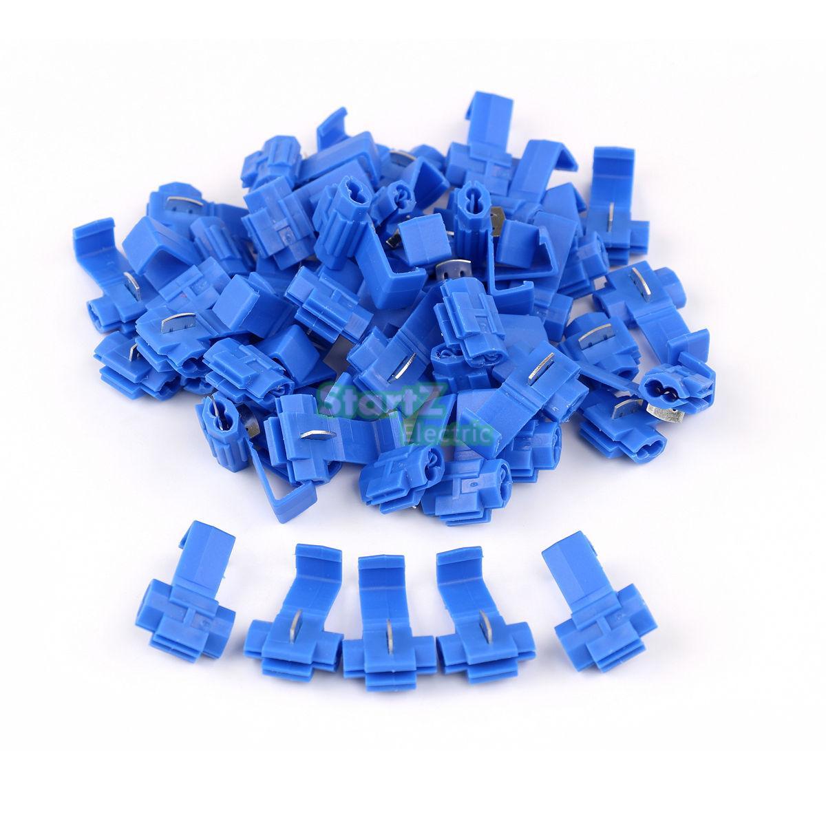 50PCS Blue Scotch Lock Wire Electrical Cable Connectors Quick Splice Terminals Crimp
