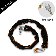 Bicycle Lock  Bicycle Accessories Safe Metal Anti-Theft Outdoor Bike Chain Lock Security Reinforced Cycling Chain Lock metal lock detail print chain bag