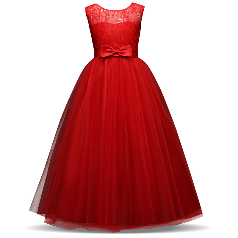 Elegant Lace Princess Girl Christmas Party Dress Wedding Gown Kids Dresses For Girls Dress Children Clothing Teens 8 12 14 Year 2