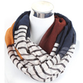 Free Shipping lady loop scarf colorful striped fine infinity scarf women shawl wrap head scarf female collar scarves beach towel