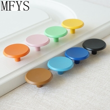 Colorful Drawer Knobs Pulls Kitchen Cabinet Dresser Handle Kids Children Blue Orange Yellow Red Pink Black White Green