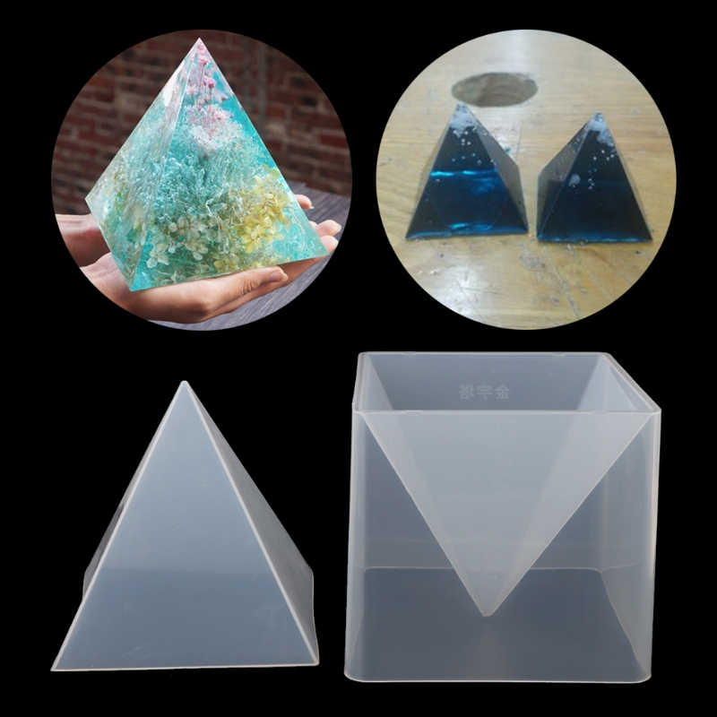 Super Pyramid Silicone Resin Mold Mould Resin Craft Jewelry Crystal Mold With Plastic Frame
