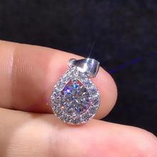 Poetry Of Jew Store Round Silver Moissanite Pendants 1ct D VVS Luxury Weding for Women