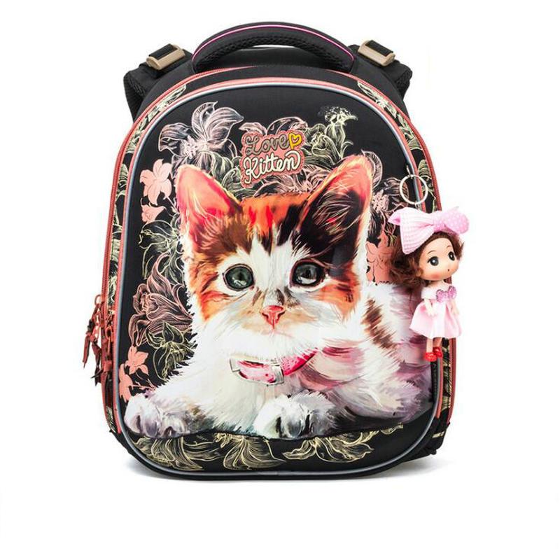 Brand New Fashion Girls Students Cartoon School Bags Orthopedic Waterproof Primary School Backpacks for Children Grade 1-4
