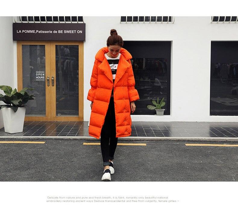Bas Vers Manches Quarts 2016 Trois Noir Veste Nouvelle Down orange Noir Parka Blanc Long Femmes Manteau D'hiver Le Arrivée blanc Hiver Orange xrInwvqzIY