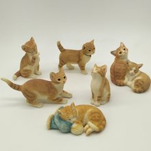 Simulation Cat home decorations ornaments creative cute gift resin animal crafts furnishings for Children Gift(China)
