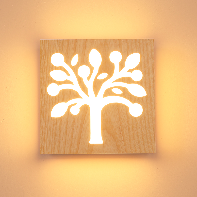 ФОТО The A1 creative wood wall lamp decoration aisle children tenant hall LED character bedroom bedside lamp ZH