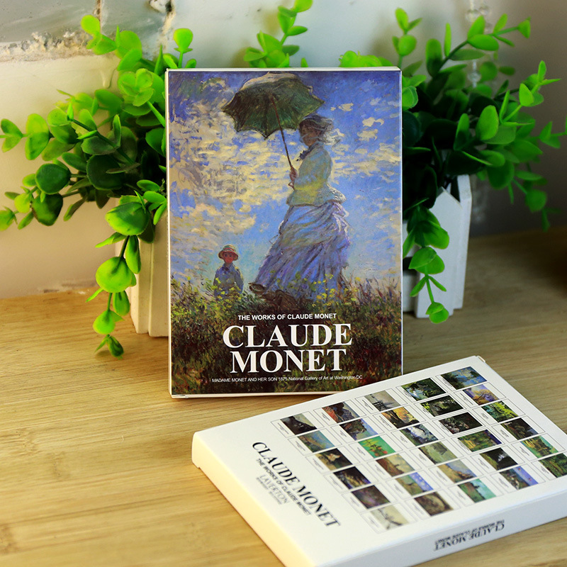 30Sheets/LOT Vintage Claude Monet Oil Painting Postcard/Greeting Card/Wish Card/Fashion Gift