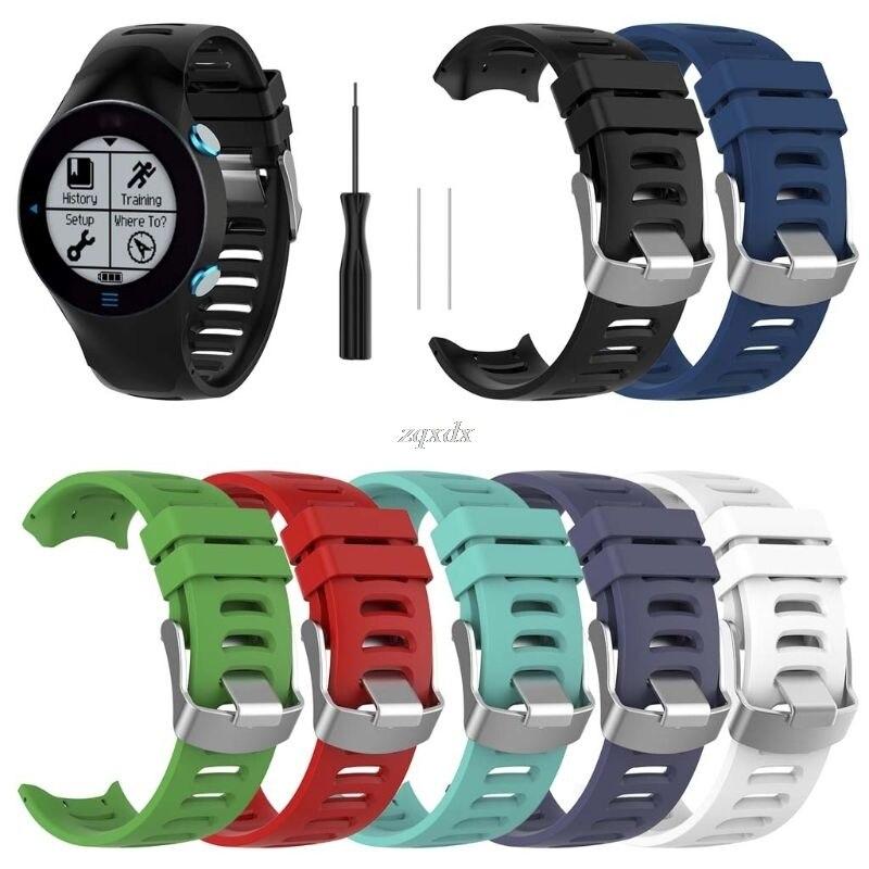 Nuevo reemplazo banda de reloj para Garmin Forerunner 610 reloj inteligente Correa correa de goma negro de alta calidad pulsera de silicona