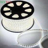 geleid strip lichten Waterproof 220V SMD5050 100m led tape flexible led strip 60 leds/M outdoor garden lighting with EU plug