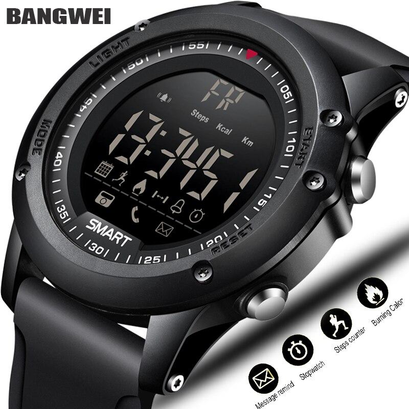 BANGWEI Sport Smart Uhr Männer Multifunktions Digitale Uhr Bluetooth Schrittzähler IP68 Wasserdichte Intelligente Elektronische Uhr Relogios