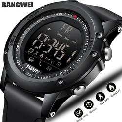 BANGWEI Sports Smart Watch Men Multifunction Digital Clock Bluetooth Pedometer IP68 Waterproof Smart Electronic Watch Relogios