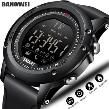 LIGE กีฬาสมาร์ทนาฬิกาผู้ชายดิจิตอลนาฬิกาบลูทูธ Pedometer IP68 กันน้ำสมาร์ทนาฬิกา Relogios