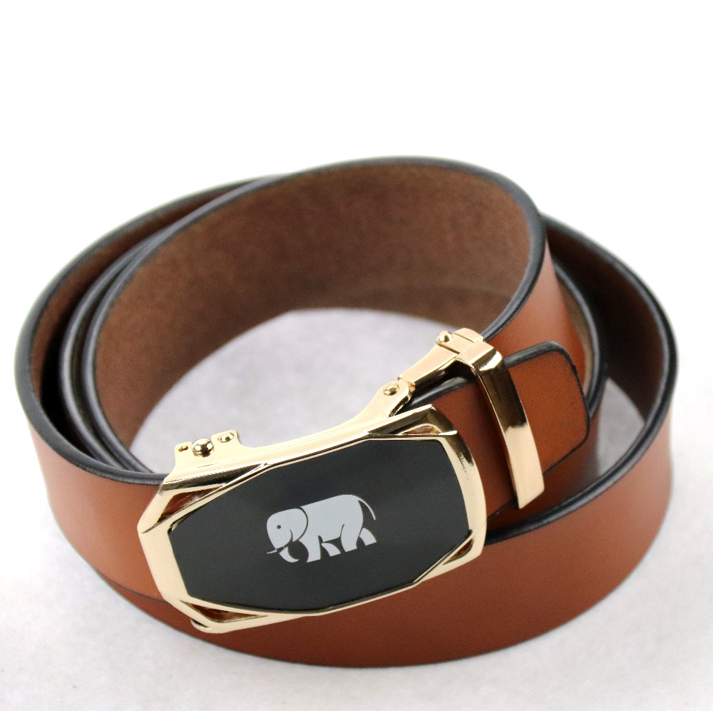 [YAXIANG] Belt men New Designer Luxury Famous High quality Automatic buckles waistband for male 2018 hot sale belt