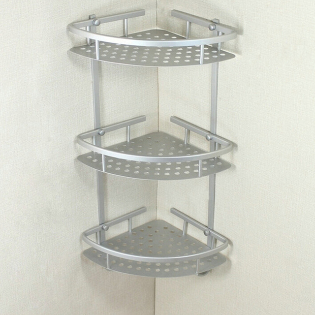 Quality Aluminum Bathroom Shelf 3 Tiers Bath Shower Shelf Bath ...