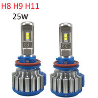 H8 H9 H11 Car LED Headlights for Auto LED Diamond 6000K 12V Replacement Bulbs Auto Front Bulb Automobiles Fog Bulb Car Lighting
