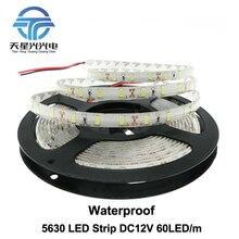 TXG free shipping LED Strip 5630 Waterproof Flexible LED Light DC12V 60LED/m 5m/lot IP65 High Quality 5630 LED Strip.