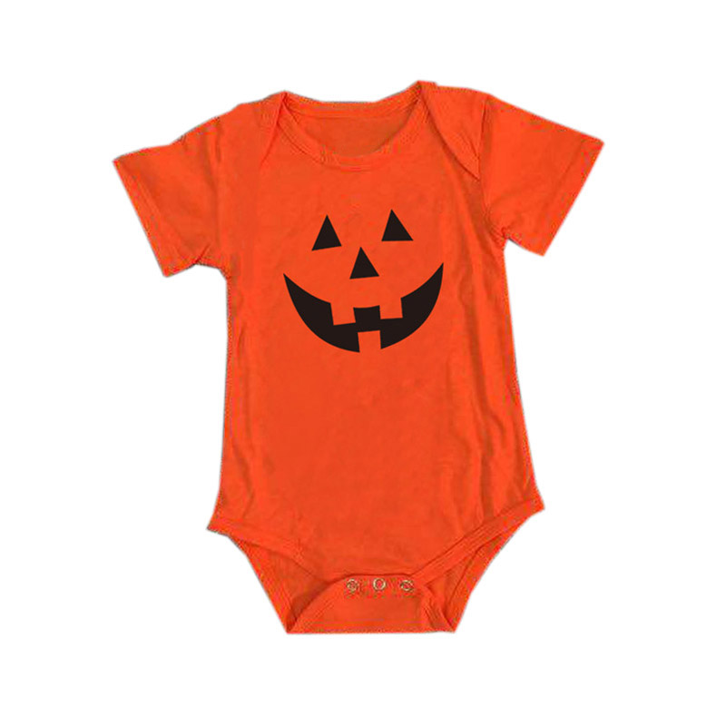 Newborn Baby Boy Girl Halloween Bodysuit Lovely Infant Toddler Baby Cotton Pumpkin Jumpsuit Yellow Outfits Festival Baby Clothes