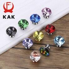 KAK 30mm Crystal Cabinet Knobs and Handles Kitchen Drawer Diamond Dresser Pulls Furniture Knob Hardware