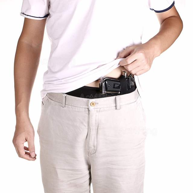 Concealed Carry Belly Band Holster Left Hand Fits Gun Glock and Similar  Sized Guns for Men and Women