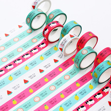 15mm Japanese Cartoon Masking Washi Tape Scrapbooking Creative DIY Journal Decorative Adhesive Tape Kawaii Stationery Supplies недорого