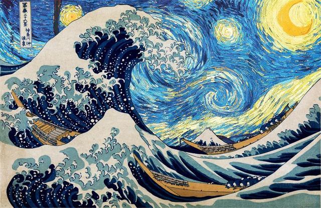 Custom Canvas Decoration Katsushika Hokusai Poster Van Gogh ...