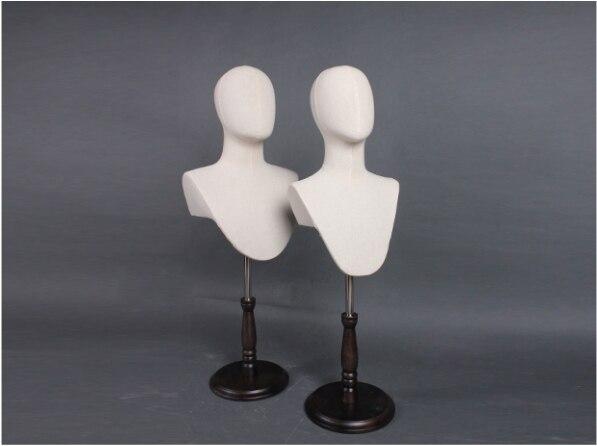 Mode offre spéciale femme et homme tissu tête Mannequin tête modèle vente directe d'usine