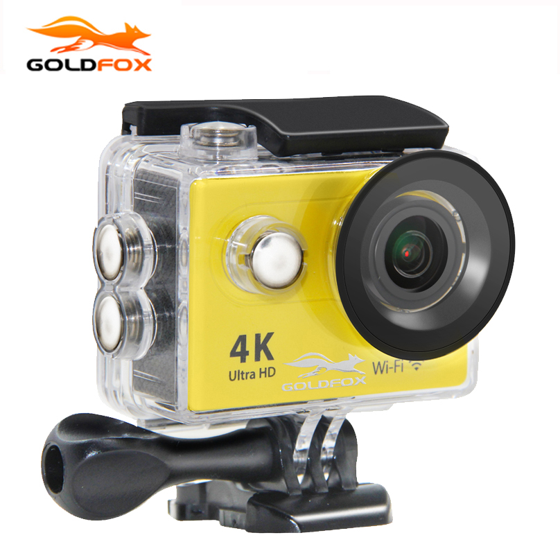 GOLDFOX H9/H9R Action camera Ultra HD 4K WiFi 1080P/60fps 2.0 LCD 170D lens Bike Helmet Cam Go waterproof pro Mini Video camera original ruisvin s30a 4k wifi full hd 1080p 60fps 2 0 lcd action camera 30m diving go waterproof pro camera ultra hd sports cam