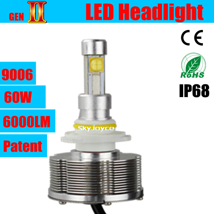 Dhl Shipping 2x 30w Car Led Headlight 9006  Hb4 Auto Led Conversion Kit 3000lm 12v 24v For Auto