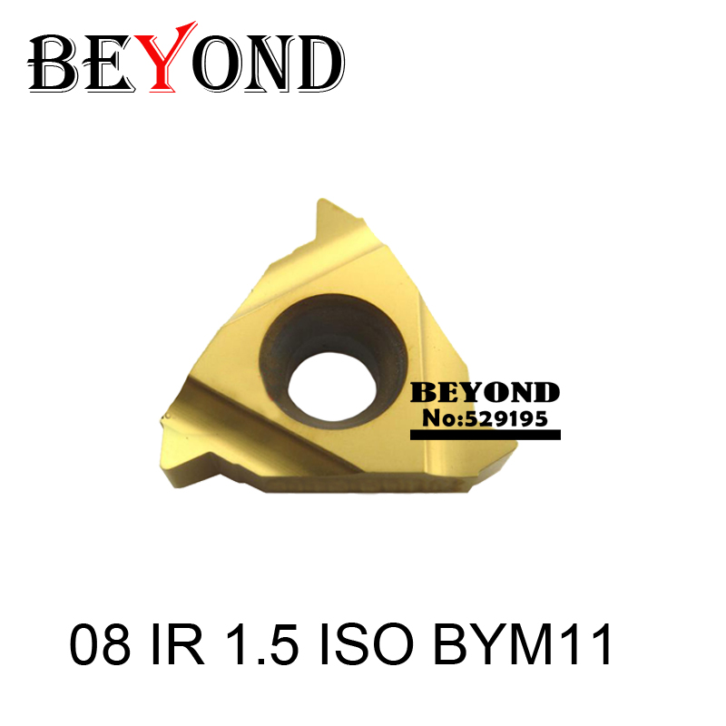 08 IR 1 5 ISO BYM11 indexable Tungsten Carbide Threading Lathe Inserts For Threaded Lathe Holder