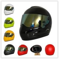Professional Motocross Helmet DOT Approved Off Road Rally Racing Helmet Men Fiberglass Shell Gold Plated Visor