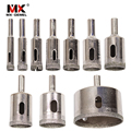 MX-DEMEL 10PCS/set 8-50mm Diamond Coated Core Hole Saw Drill Bits Tool Cutter For Tiles Marble Glass Granite Drilling Best Price